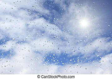 zon, regen