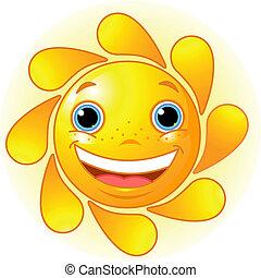 zon, schattig