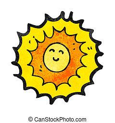 zon, spotprent