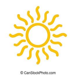 zon, symbool., gele