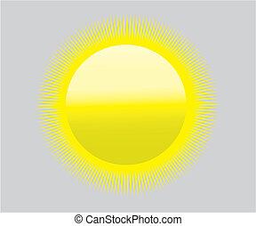 zon, symbool, globaal, -, hitte, droogte, het verwarmen, pictogram