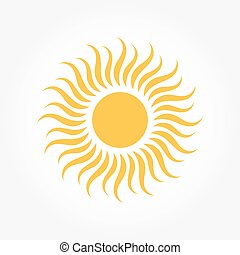 zon, symbool, of, pictogram
