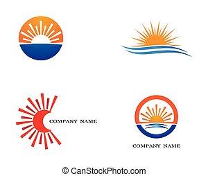 zon, symbool, ontwerp, illustratie