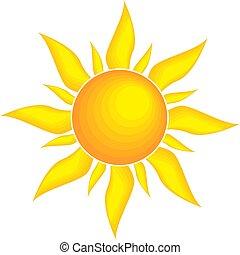 zon, symbool, vector, illustratie