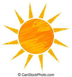 zon, tekening