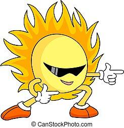 zon, trekken, koel