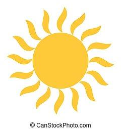 zon, vector, het glanzen, pictogram