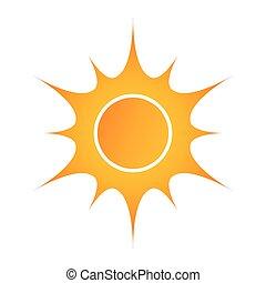 zon, vector, illustratie