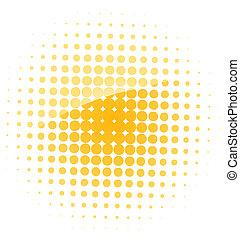 zon, vector, illustratie, pictogram