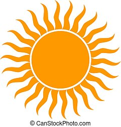 zon, vector, illustratie