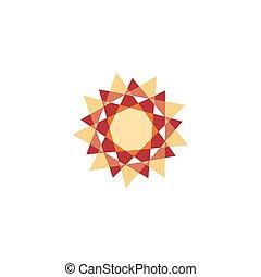 zon, vector, illustration., kaleidoscope