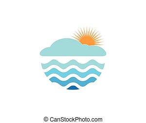 zon, vector, mal, illustratie, logo