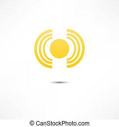 zon, vector, opstand, illustratie
