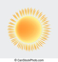 zon, vector, pictogram