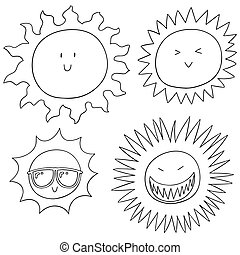 zon, vector, set