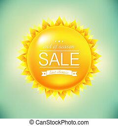 zon, verkoop, achtergrond