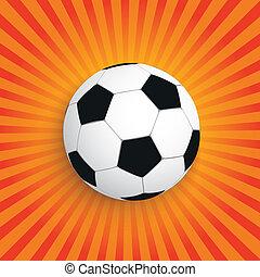 zon, voetbal, retro