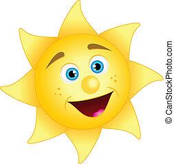zon, vrolijke