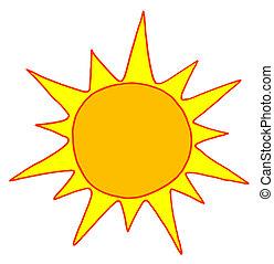 zon, warme