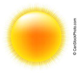 zon, witte achtergrond