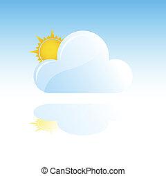 zon, wolk