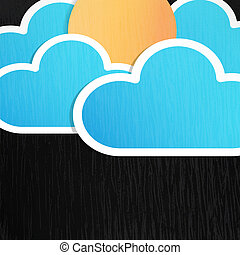 zon, wolken, achtergrond