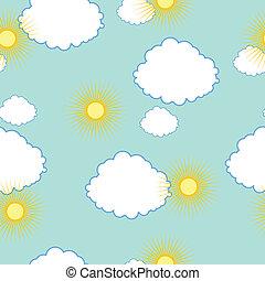 zon, wolken, textuur