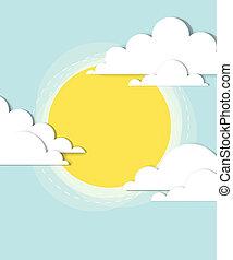 zon, wolken