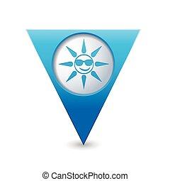zon, zonnebrillen, pictogram
