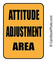 zona, atteggiamento, regolazione, segno