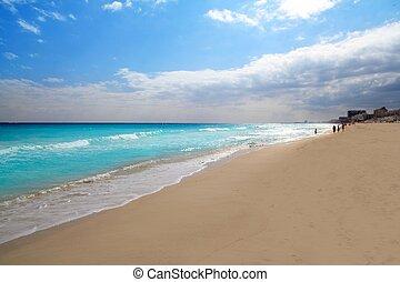 zona, caribe, méxico, cancun, hotelera, mar, playa