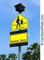 zona de la escuela, señal