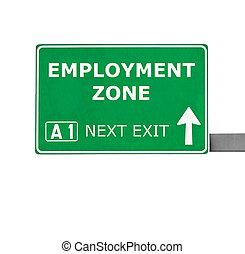 zona, isolado, sinal, branca, emprego, estrada