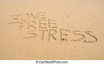 zona, livre, stress.