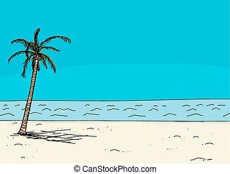 zona portuale, albero, palma, vuoto