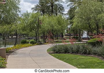 zona portuale, arizona, scottsdale, distretto, passerella