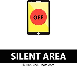 zona, spegnere, silenzioso, telefono