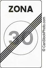 zona, utilizado, zona del final, medios, -, zone., señal,...