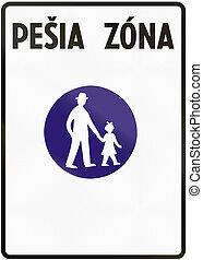 zona, utilizado, zona, medios, -, señal, peatón, pesia,...