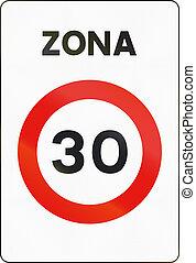 zona, utilizado, zona, medios, -, zone., señal, límite,...