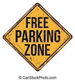 zona, vendemmia, metallo, libero, segno, arrugginito, ...