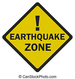 zone', 印, 写真, 隔離された, 現実的, 白, 'earthquake