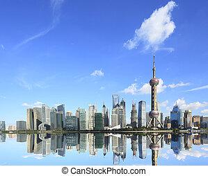 zone, finance&trade, lujiazui, shanghai, attractio, horizon,...