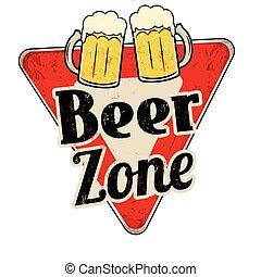 zone, vendange, métal, bière, signe, rouillé
