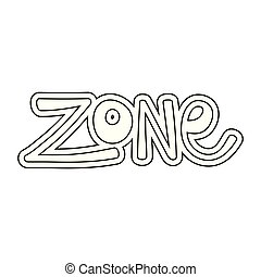 zone word isolated icon