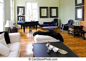 zongora, szoba