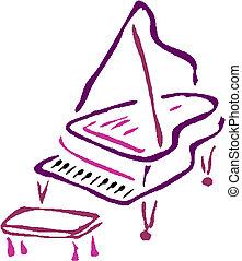 zongora, vektor