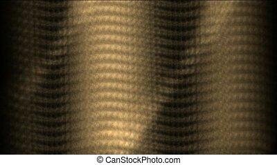 zonlicht, op, gouden, metaalplaat