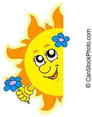 zonnebaden bloem, zich het verschuilen