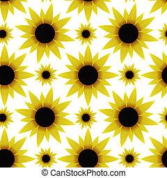 zonnebloemen, seamless, textuur